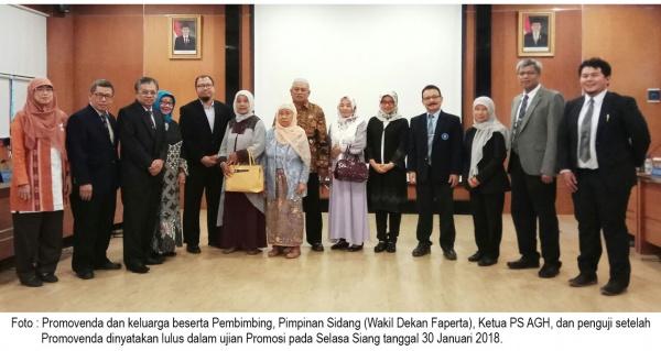 Inanpi Hidayati S - Lolos Ujian Promosi Program Doktor dari PS AGH, Sekolah Pascasarjana, IPB